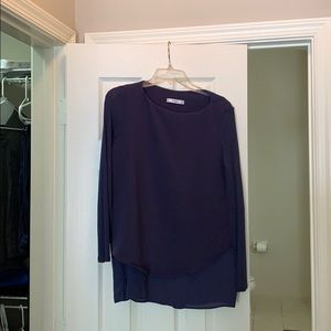 Like new navy blue maternity blouse